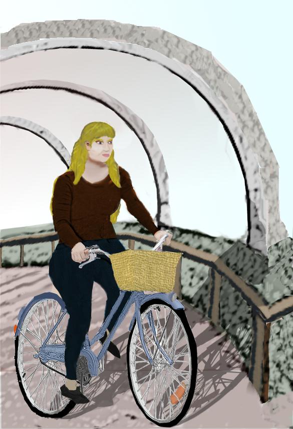 Nataliscya on her bicycle 2