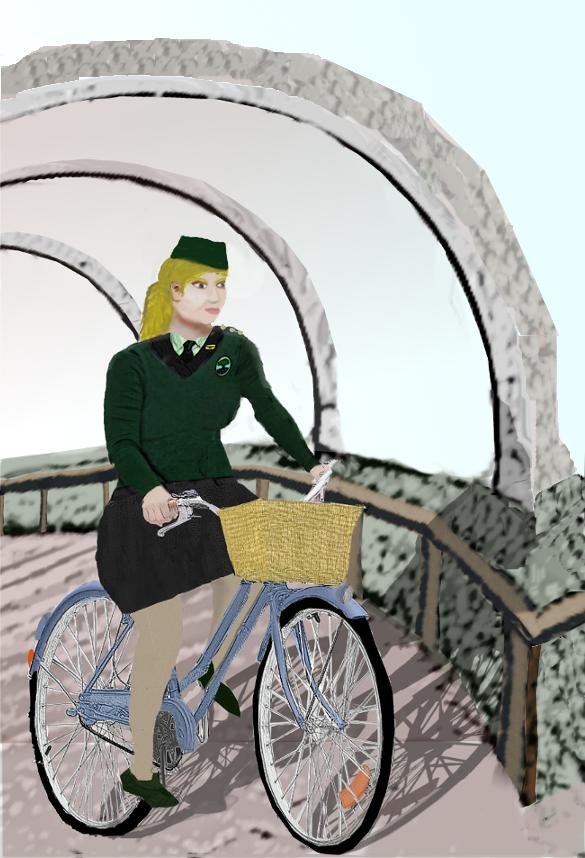 Nataliscya on her bicycle